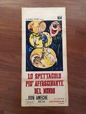 LOCANDINA,S13,LO SPETTACOLO PIU' AFFASCINANTE DEL MONDO Rings around World CIRCO