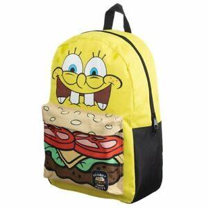 SPONGEBOB SQUAREPANTS BACKPACK Crabby Patty Mixblock Backpack Bioworld IN STOCK!