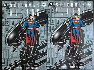 Superman vs Aliens #1 Paperback TPB Lot of 2 DC Comics Dark Horse Comics 1995 VF