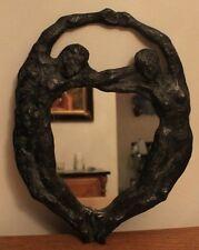 Miroir en bronze Couple Nu années 50  , Gout Mayodon, Buthaux Art Deco