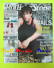 ROLLING STONE USA MAGAZINE 823/1999 Nine Inch Nails Trent Reznor Puff Daddy Nocd