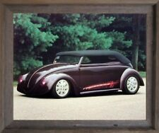 Chopped VW Bug Harley Koopman Vintage Car Wall Art Decor Barnwood Framed Picture