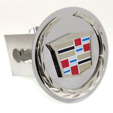 """Cadillac Logo Chrome Tow 2"""" Receiver Hitch Cover Real Stainless Steel Plug"""