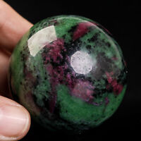 237g52mm Natural Ruby in Zoisite Quartz Crystal Sphere Healing Ball Chakra