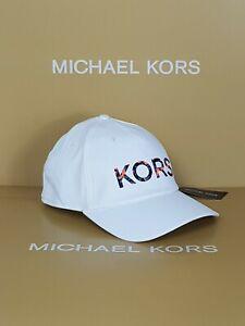 MK Michael kors hat CAP MK FALL 1 WHITE ONE SIZE RRP £70 ADJUSTABLE STRAP.