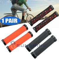 Bicycle Handlebar Grips Non-slip Rubber Bar Cycling Mountain Lock On BMX MTB US