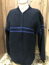 New listing Men's Burton Snowboard Sz M Wool Ski Sweater Black Zip Up Jacket Black Blue