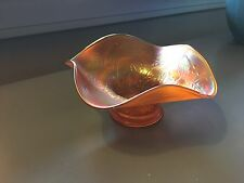 Vintage Carnival Glass Fluted  Candy Dish