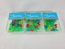 75 Count Jumbo Push Pins In Assorted Colors Board Office Pushpin 3 Set