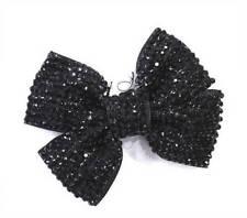 Accessoires de coiffure noir en acrylique pour femme