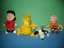 """PEANUTS  COLLECTION OF """"4"""" SNOOPY CLIP ON, CHARLIE BROWN, LUCY AND WOODSTOCK DOL"""