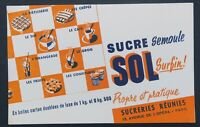 BUVARD SUCRE SOL sugar Sucreries réunies PARIS blotter Löscher
