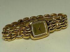 Ladies Raymond Weil Swiss Made Gold Tone Watch 5877/1 W/ Crystals GENEVE I-2619