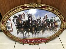 """Anheuser Busch Budweiser Clydesdale Horse Team Bubble Sign Wall Display 20""""x 30"""""""