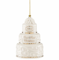 Lenox 2018 Wedding Cake Ornament Our First Christmas Together New in Box
