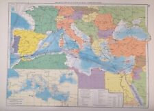 Mediterranean & Black Seas Communications 1952, Mercantile Marine Atlas, Philip