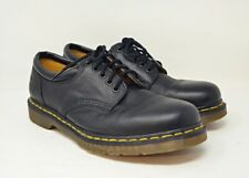 Dr Martens Mens 11 Aw004 Black Lace-Up Oxfords Yellow Stitching
