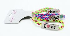 "New ""Peace"" ""Love"" ""Dream"" 3 Piece Stretch Bracelet Set nwt #B2014"