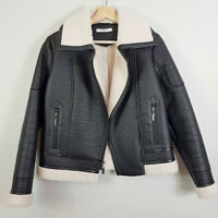 GLAMOROUS   Womens Faux Suede / Sherpa Leather Jacket  [ XS or AU 8 / US 4 ]