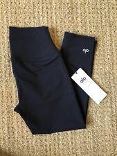 Alo Yoga Airbrush Capri Crop High-Wasit Legging in Black Small