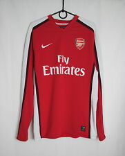 F.C. Arsenal 2008-10 Home Player Issue L/S Jersey Size L