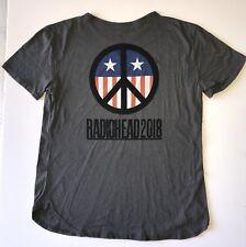 Radiohead 2018 t shirt tour concert xl extra large grey peace USA flag new