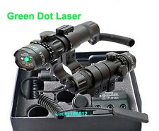 Tactical Hunting For Rifle Scope Green Laser Sight Dot Adjustable w/ Mounts New