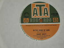 "SANDY SCOTT *RARE 7"" 45 ' IN THE ARMS OF LOVE ' 1967 GC+"