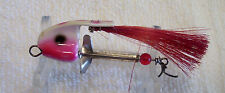 """THE DEMON FISH GETTER BUCKTAIL MINNOW  LURE 11/04/14 RED WHITE  2-1/2"""""""
