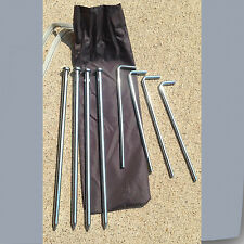 "Coleman Set 4pc10"" Steel Nail Stakes & 4pc 7"" Metal Alloy Tent Peg Gazebo Canopy"
