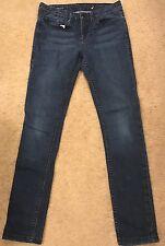 """WILLIAM RAST """"Jerri Ultra Skinny"""" Jeans Mid Rise Dark Wash Hemmed 31"""" Sz 29"""