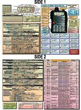 YAESU FT-50/R/RD AMATEUR HAM RADIO DATACHART EXTRA LG. GRAPHIC INFORMATION
