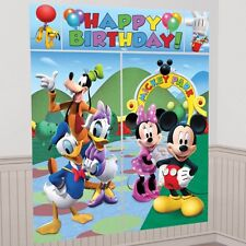 Disney Mickey Mouse Happy Birthday Party Scene Setter Wall Decorating Kit