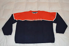 Authentic Tommy Jeans Tommy Hilfiger Navy Ribbed Crew Neck Sweater Mens Size XL