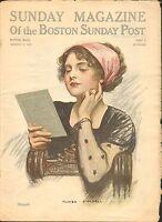 MARCH 17 1912 SUNDAY MAGAZINE OF THE BOSTON POST vintage magazine