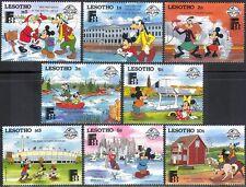 Lesotho 1988 Disney/Finlandia/Horse/Fishing/Buildings/Animation/StampEx 8v s2603