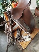 "Crosby Corinthian Spring Tree Dressage  Saddle 17"" and Tack"
