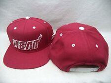 $26 Miami Heat Adidas NBA Maroon Structured Snapback Hat Cap OSFA