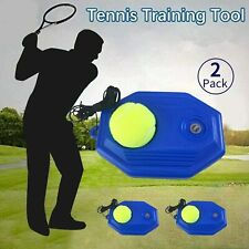 2-Pack Solo Tennis Trainer Kit Training Power Base Multi Skill Volley Sports Usa