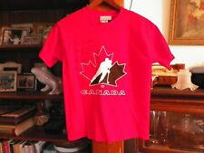 Ryan Smyth Captain Canada Autographed Team Canada T Shirt Youth Size M Free Ship