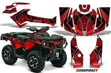 ATV Graphics Kit Decal Wrap For CanAm Outlander 800R/1000 XT-P DPS SST G2 CY RED
