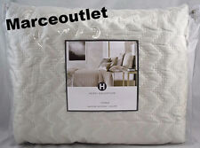 Hotel Collection Distressed Chevron KING Quilted Coverlet Ivory