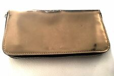Marni Gold Leather Clutch Zip Wallet $650