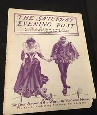 Saturday Evening Post March 2, 1901 Singing Around the World by Madame Melba