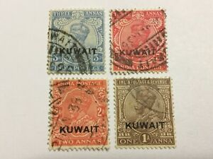 old stamps  KUWAIT    x  4