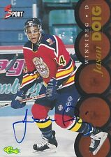 JASON DOIG SIGNED CLASSIC 5 SPORT HOCKEY TRADING CARD JETS COYOTES RANGERS CAPS