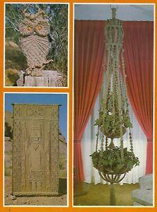 Natural Jute Double Plant Hanger & Owl Patterns Macrame West Craft Book MW101