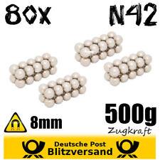 80x Neodym - Magnete D8mm – kleine Industriemagnete Hightechmagnete magnetisch