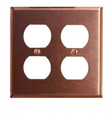 Switchplate Brushed Solid Copper Double Outlet | Renovator's Supply