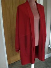 LOVELY RED RIBBED CARDIGAN BY EVANS SIZE 18/20,WORN ONCE